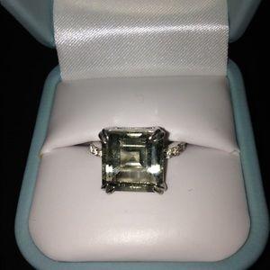 Jewelry - Green quartz asscher cut ring